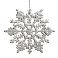 24枚セット クリスマス雑貨 雪花のデザイン 部屋装飾 飾り 雪花 ガーランド ハンギング ウェディング 誕生日 お店のデコレーション 8カラー シルバー