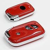 レクサス 純正適合 初期 スマートキーカバー 高級仕上ロージーレッド LEXUS スマートキーケース 保護カバー