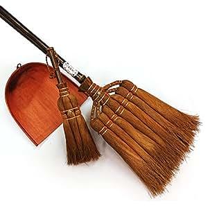 Amazon|かねいち 棕櫚箒3点セット(棕櫚7玉長柄箒+棕櫚3玉荒神箒(ダルマ中)+ひもはりみ(ちりとり)小) : 山本勝之助商店|ほうき・ちりとり オンライン通販