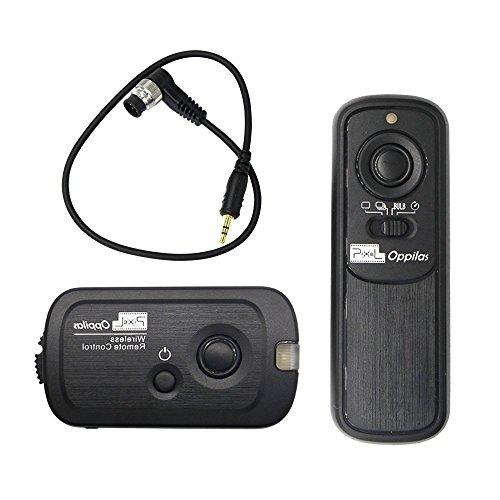 PIXEL RW-221 デジタル一眼レフカメラ ニコン用 ワイヤレス レリーズシャッター タイマー リモコン シャッタ接続ーケーブル付き 100mリモートコントロール距離 NiKon D800 シリーズ D810シリーズ D700 D500 D300シリーズ D200 D1シリーズ D2シリーズ D3 D3S D4 D5 N90S F5 F6 F100 F90 F90X FUJIFILM S5Pro S3Pro KODAK DCS-14N適用 省電力(2*AAAアルカリ性電池適用)
