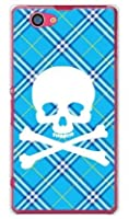 SECOND SKIN スカルパンク ブルー (クリア) / for Xperia Z1 f SO-02F/docomo DSO02F-PCCL-201-Y217