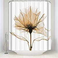 クラウドDreamホームイエローローズ花花柄シャワーカーテン、防水とMildewproofポリエステル生地バスカーテンデザイン,トリオX線テーマ 66x72 Cloud Dream Home
