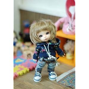 [TTYA] Mini flower hooed T (Navy)/16cm doll/洋服 ドール/(Lati)