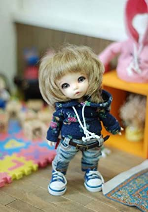 [TTYA] Mini flower hooed T (Navy)/16cm doll/洋服 ドール/(Lati)