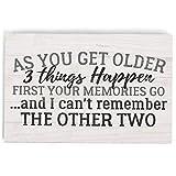 P. Graham Dunn As You Get Older Things Happen Cream 5 x 4 パインウッド卓上ワードブロック飾り板