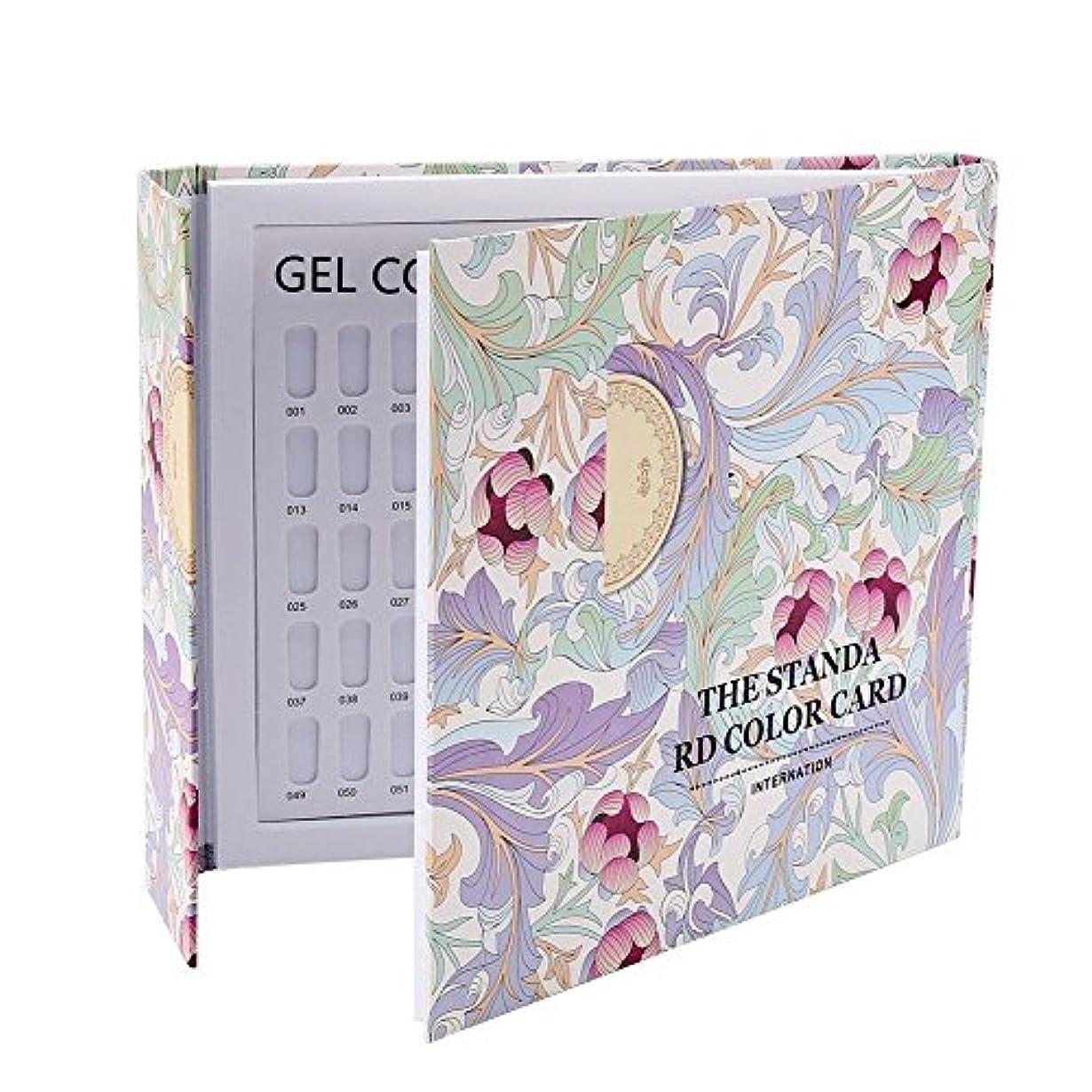ストライプねばねばスローガンカラーチャート ブック - Delaman ネイル 色見本、ブック型 、ジェルネイル、カラーガイド、サンプル帳、120色 (パターンカバー)