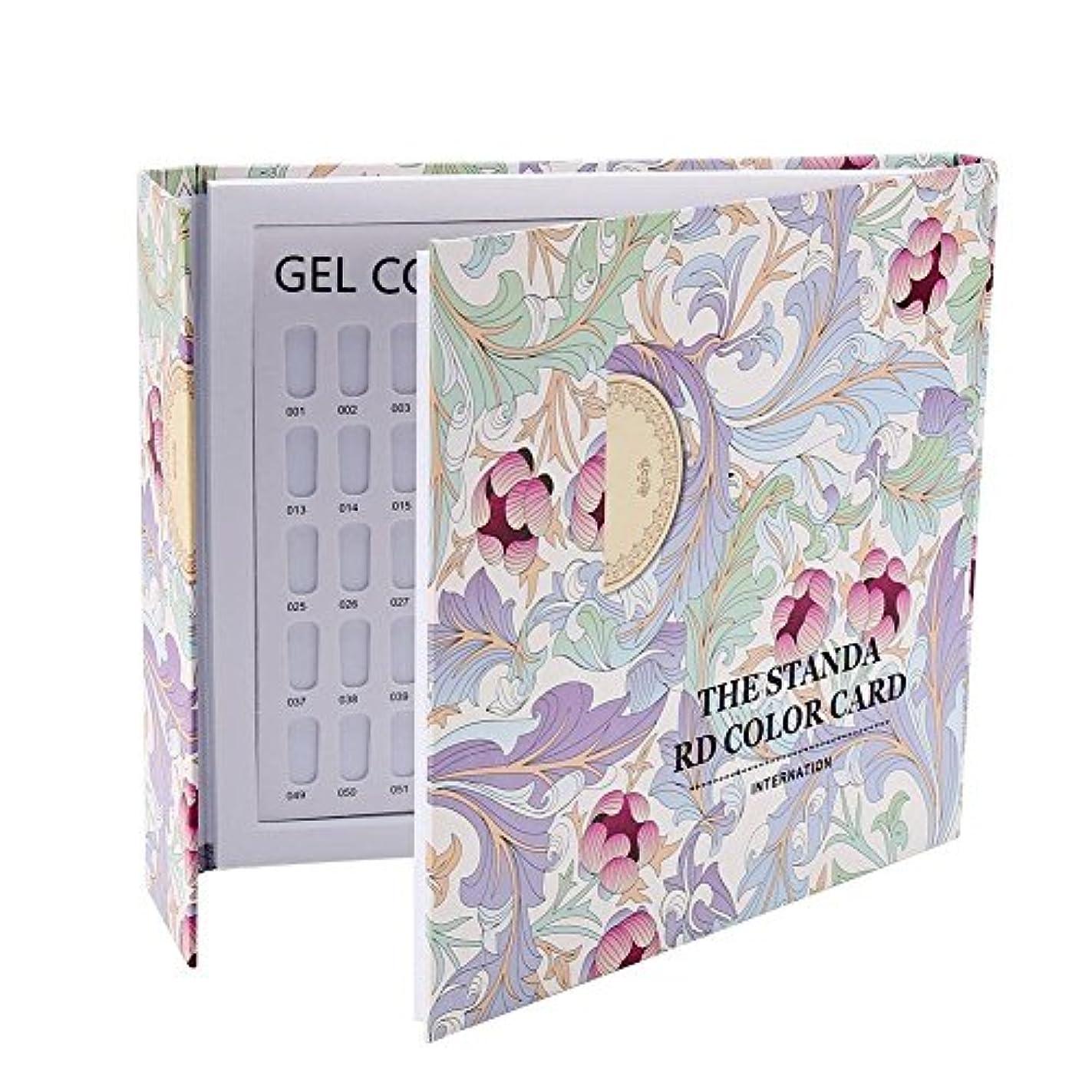 顎特別な警戒カラーチャート ブック - Delaman ネイル 色見本、ブック型 、ジェルネイル、カラーガイド、サンプル帳、120色 (パターンカバー)