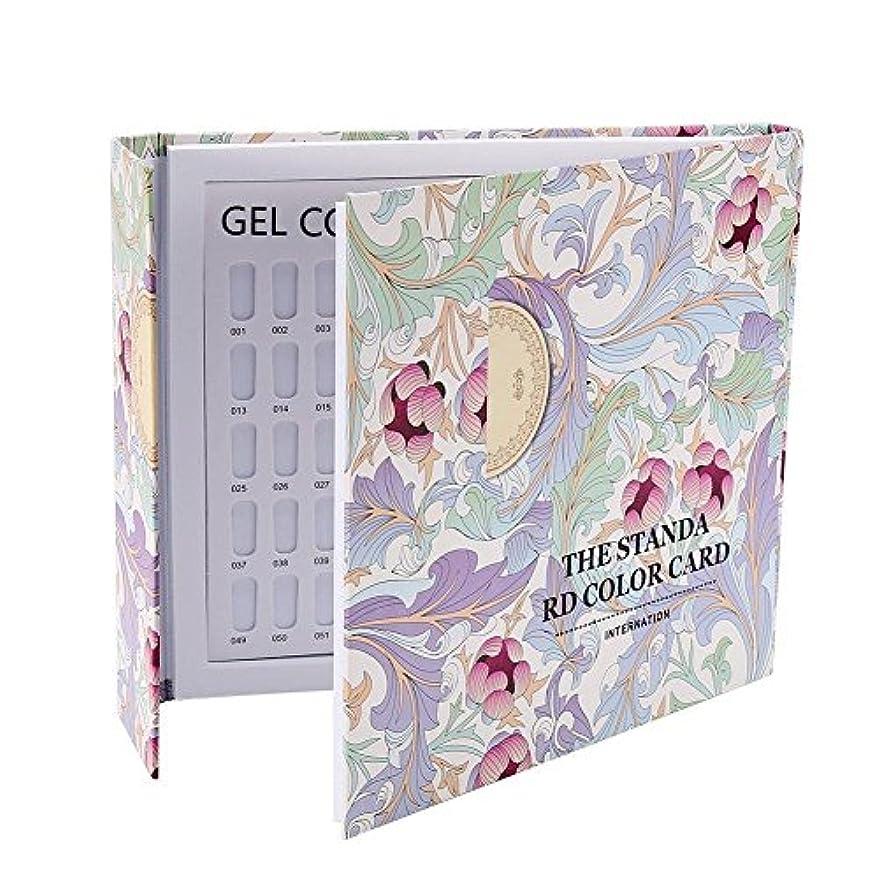 レッドデートユーモアタヒチカラーチャート ブック - Delaman ネイル 色見本、ブック型 、ジェルネイル、カラーガイド、サンプル帳、120色 (パターンカバー)