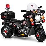 Kids Ride-On Motorbike Motorcycle Patrol Battery Car Electric Toy Police Black