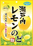 ライオン菓子 瀬戸内レモンのど飴 73g ×6袋