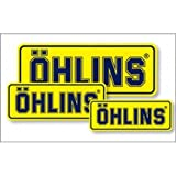 OHLINS(オーリンズ) レーシングステッカー W210mm H85mm 0197-03