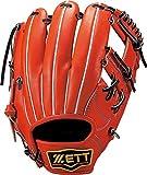 ZETT(ゼット) 野球 軟式 グラブ(グローブ) プロステイタス セカンド ショート 右投用 ディープオレンジ/ブラック(5819) BRGB30830