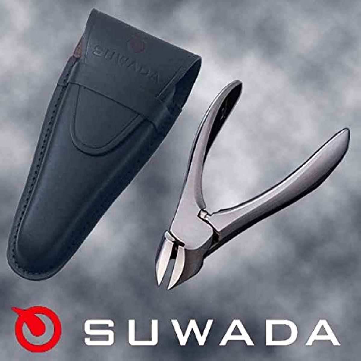 浸したガスインフラSUWADA爪切りクラシックL&ブラック革ケースセット 特注モデル 諏訪田製作所製 スワダの爪切り