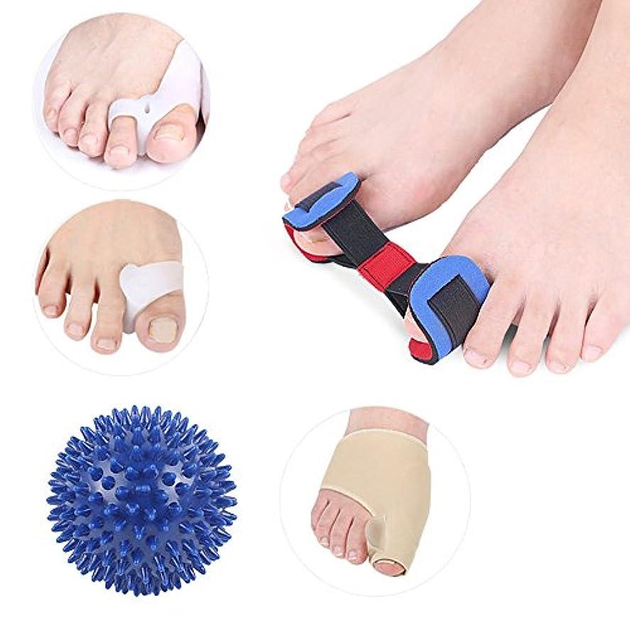 癒合矯正具、足の親指矯正Hallux外反夜、腱膜炎スプリント、足指セパレーター、腱膜リリーフプロテクタースリーブキット - 足関節の痛みの治療、スペーサ矯正補助手術