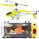 初心者に最適ジャイロ搭載3.5ch、墜落しても壊れにくい素材でどんどん飛ばそう!便利なコントローラ充電、ラジコン ヘリコプター 室内ラジコンヘリ(イエロー)