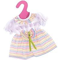 Lovoski  人形 かわいい レインボー ストライプ ちょう結び ドレス  16インチドール適用 装飾