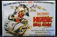 Herbie Rides Again映画ポスター冷蔵庫マグネット。