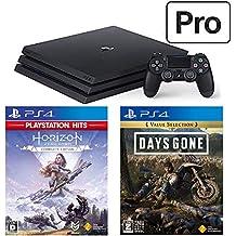 PlayStation 4 Pro +  Horizon Zero Dawn Complete Edition + Days Gone セット (ジェット・ブラック) (CUH-7200BB01)【特典】オリジナルカスタムテーマ(配信)