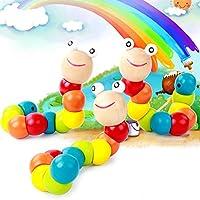 goodsceneクリエイティブpull-alongおもちゃ子供の教育玩具幼児用木製ブロックおもちゃ(マルチカラー)