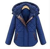 (ティプロペチカ) TiproPechka ふわモコ ダイヤキルト ダウンコート レディース 長袖 防寒 フード付 ブルー (05_2XLサイズ)