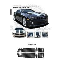 Chevrolet Camaro Convertible 2011to 2013カーボンファイバーテクスチャBumble Beeスタイルストライプグラフィックキット