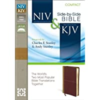 NIV & KJV Side-by-Side Bible: New International Version and King James Version Side-by-Side Camel Rich Red Italian Duo-Tone