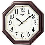 (セイコークロック) SEIKO CLOCK 八角形タイプ電波壁掛け時計 KX386B 和室 洋室 茶色白 アナログ