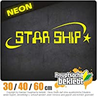 Star Ship - 3つのサイズで利用できます 15色 - ネオン+クロム! ステッカービニールオートバイ