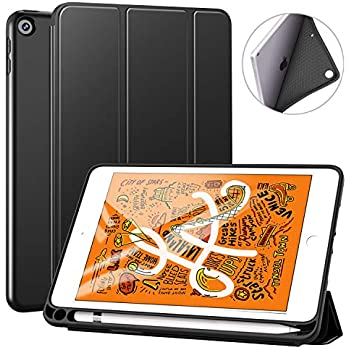 Benazcap iPad mini 5 ケース (2019モデル) 軽量 薄型 ペンホルダー付き 三つ折スタンド オートスリープ機能付き ハニカム放熱 全面保護 2019発売のiPad Mini5(第五世代) に対応 スマートカバー (ブラック)