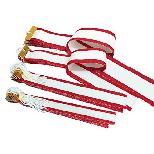 【セット品】 GOLD SHACHI 紅白ペナント 各種サイズ トロフィー・優勝カップに勝者を記録するリボン 樹脂加工済み