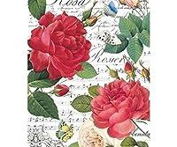 米紙のバラの花、シート音楽や蝶、Stamperia A4デコパージュ味のホビー色