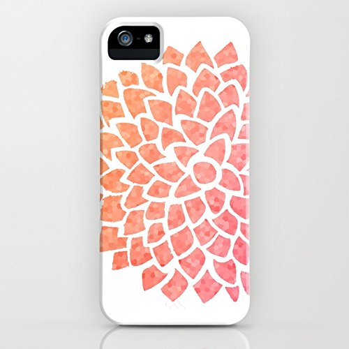 Society6 Coral Sea Glass Dahlia Slim Case iPhone SE