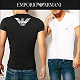 EMPORIO ARMANI (エンポリオアルマーニ) EMPORIO ARMANI Tシャツ メンズ Vネック 半袖 EAGLE ロゴ [並行輸入品]