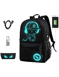 Wincy Shop Luminous Laptop Backpack Unisex Fashion Daypack College School Book Bag