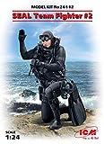 ICM 1/24 アメリカ海軍 特殊部隊 S.E.A.L.隊員 No.2 プラモデル 24112