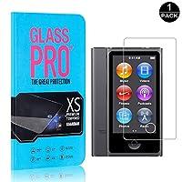 【1枚セット】 iPod Nano 7 超薄 フィルム CUNUS Apple iPod Nano 7 専用設計 強化ガラスフィルム 高透明度で 気泡防止 飛散防止 硬度9H 耐衝撃 超薄0.26mm 液晶保護フィルム