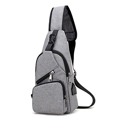 ROKKES ショルダーバッグ ボディバッグ メンズ レディース アウトドア おしゃれ 斜め掛け バッグ Pad mini 収納可 USBポート 付き