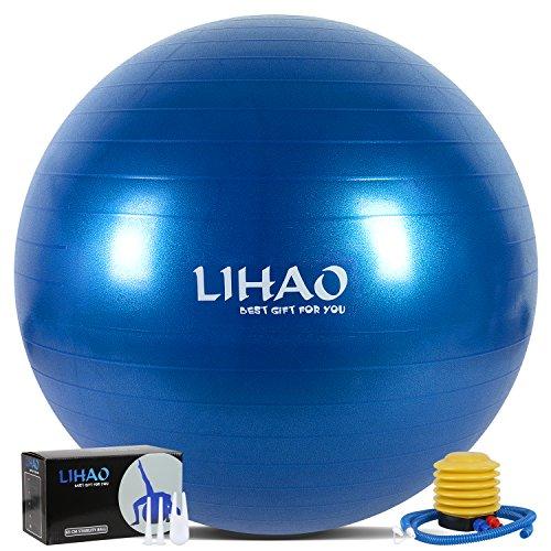LIHAO バランスボール 65cm ダイエットボール ヨガボ...