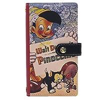 ピノキオ[スマホ本革マルチケース]スマートフォン汎用手帳型カバー/クラシックポスターシリーズ ディズニー