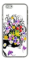 iPhone6 (4.7インチ) ハードケース 043 春の花と少女(L) 素材クリア
