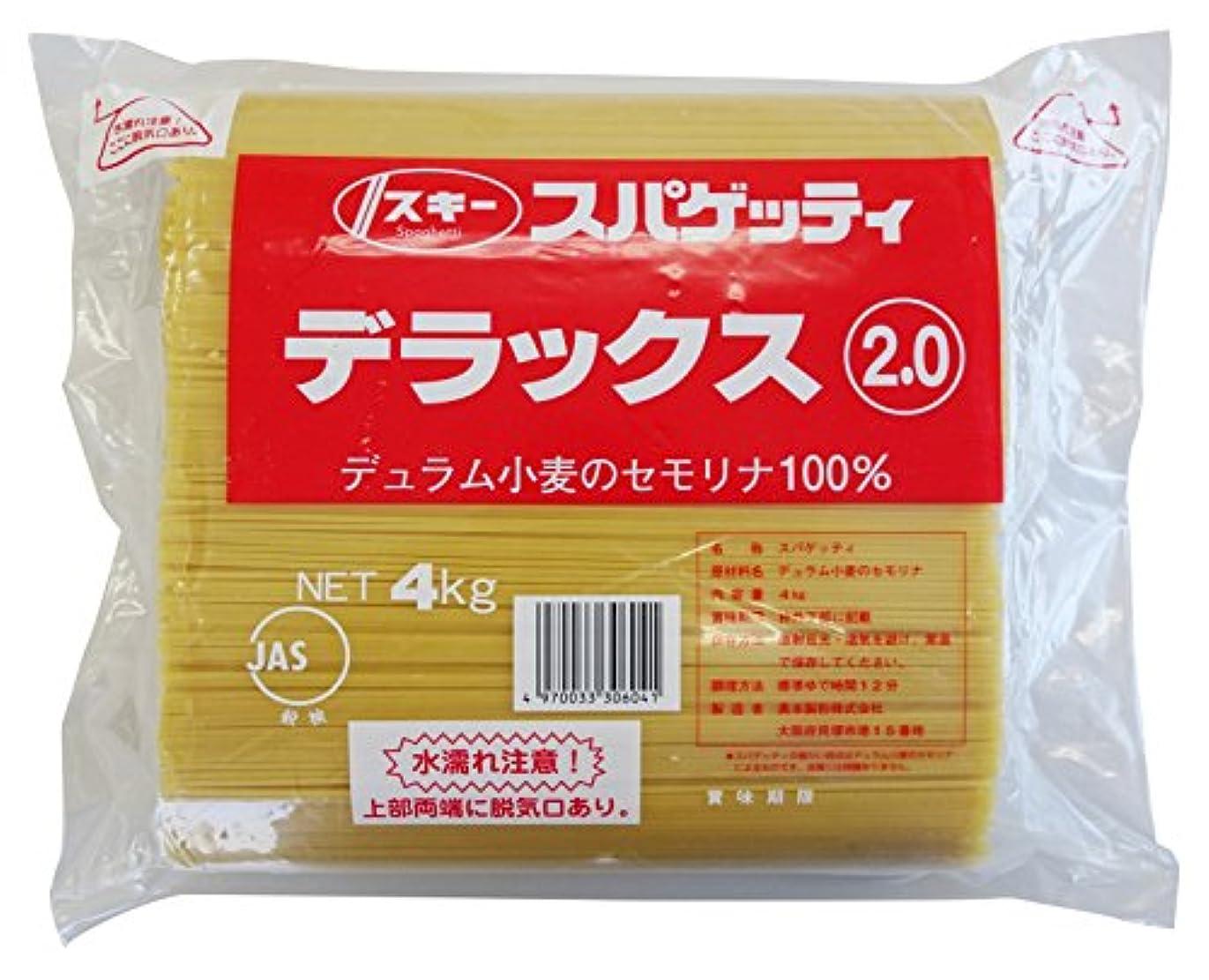 ネコつかいます悩み奥本製粉 スキー デラックススパゲッティ2.0㎜ 4kg