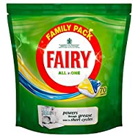 Fairy All in 1 Dishwasher Tablets Lemon (70 per pack) (パックあたり70 ) 1食器洗い機錠レモンのすべての妖精