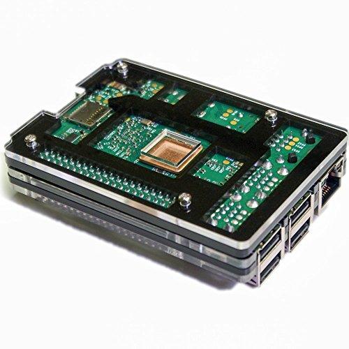 『waves Raspberry Pi 3 Model B 用 ケース ヒートシンク 3点付 Pi2 共用 国内発送 黒』の3枚目の画像