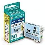 エコリカ エプソン(EPSON)対応 リサイクル インクカートリッジ ICLC50ライトシアン 対応 ESP-E50LC (目印:ふうせん)