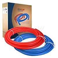 PEXFLOW Pex管キットwith 1/ 2インチx 100'コイルレッドとブルー飲料水Pex管コンボ 1/2 inch PXKT-RB10012 1