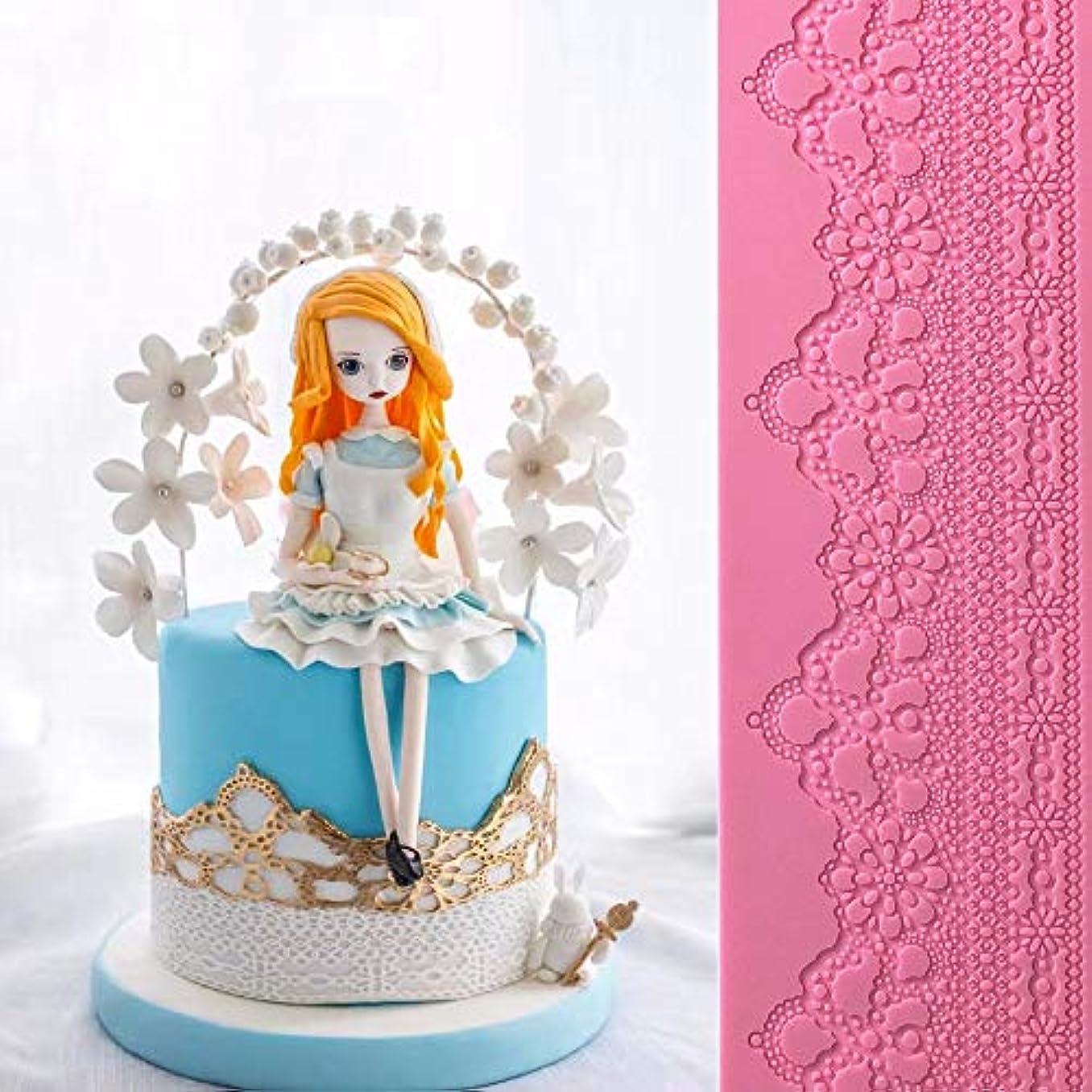 飛び込む不従順がんばり続ける食用の結婚式の花のレースのレースケーキシリコーンエンボスパッドテクスチャフォンダン印象レースパッド装飾金型チューインガム