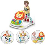 4 in 1 Multi Functional Baby Push Walker Entertainment Musical Sit & Play Table