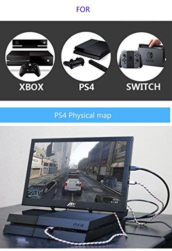 『モバイルモニター Kenowa 11.6インチ モバイルディスプレイ 1920*1080 IPS USB,HDIM 液晶パネル 支持 Raspberry Pi 1 2 3 PS4 xbox360 ゲーム』の4枚目の画像