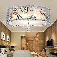 スタイリッシュなミニマリストLED天井ランプ子供勉強ベッドルームリビングルーム天井ランプ、400mm直径