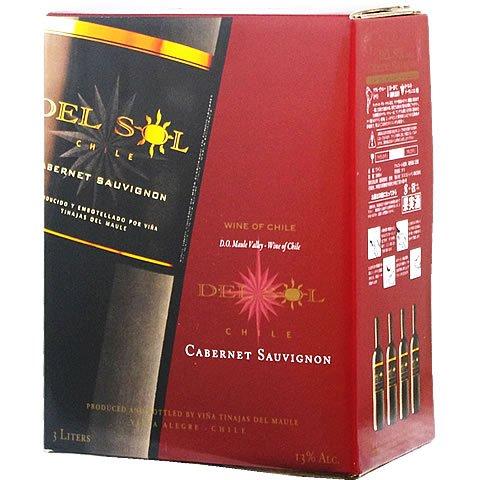 <赤> デル・ソル カベルネ・ソーヴィニヨン (チリ) バッグインボックス 3,000ml 箱ワイン ボックスワイン BOXワイン